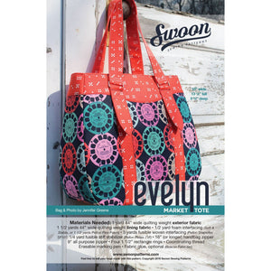 Evelyn Market Tote - Printed Bag Pattern