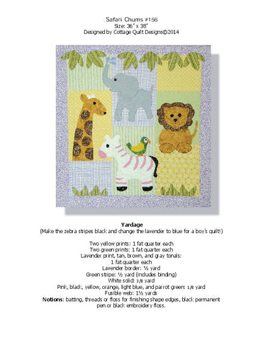 Safari Chums - PDF Quilt Pattern
