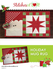 Santa Mug Rug - PDF Quilt Pattern by Stitches of Love