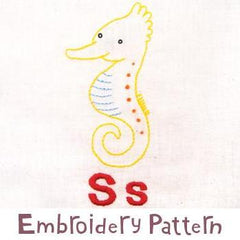 Seahorse Embroidery - PDF Accessory Pattern by Penguin and Fish