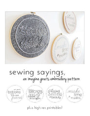 Sewing Sayings - PDF Pattern by Imagine Gnats