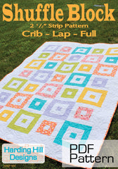 Shuffle Block - PDF Quilt Pattern by Harding Hill Designs