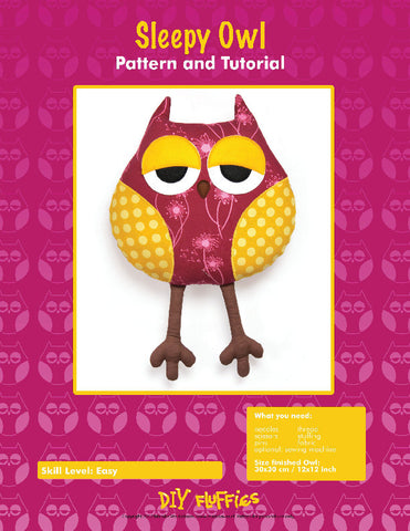 Sleepy Owl - PDF Accessory Pattern