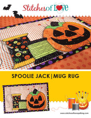 Spoolie Jack Mug Rug - PDF Quilt Pattern by Stitches of Love