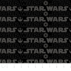 Star Wars Logo in Black from Star Wars by Camelot Fabrics House Designers  for Camelot Fabrics