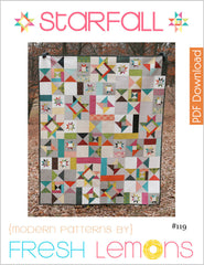 Starfall - Paper Quilt Pattern by Fresh Lemons Quilts