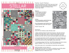 Stellar - PDF Quilt Pattern from Dreamin' Vintage by Jeni Baker for Art Gallery