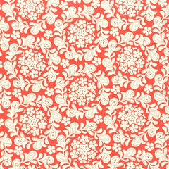 Strawberry Moon Petite Henna Garden in Coral from Strawberry Moon by Sandi Henderson for Michael Miller
