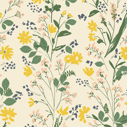 TOR-23868 The Open Road Nature Walk in Limestone by Bonnie Christine for Art Gallery Fabrics at Pink Castle Fabrics