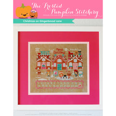 Christmas on Gingerbread Lane - Linen Cross Stitch Kit for The Frosted Pumpkin Stitchery