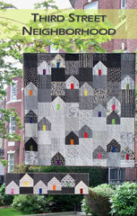 Third Street Neighborhood - PDF Quilt Pattern from Color Inspirations Club by Digital Download Patterns House Designers  for Just a Bit Frayed