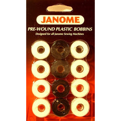 Pre wound Bobbins Black/White (12/cards) 6 card min (PREWBW72) for Janome
