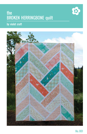The Broken Herringbone Quilt – Paper Quilt Pattern