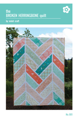 The Broken Herringbone Quilt – Paper Quilt Pattern from House of Hoppington by Violet Craft for Michael Miller