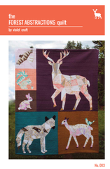The Forest Abstractions Quilt – Paper Quilt Pattern from House of Hoppington by Violet Craft for Michael Miller