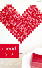 I Heart You - Paper Quilt Pattern by V and Co.