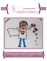 Valentine Super Hero Boy - PDF Pattern by Imagine Gnats
