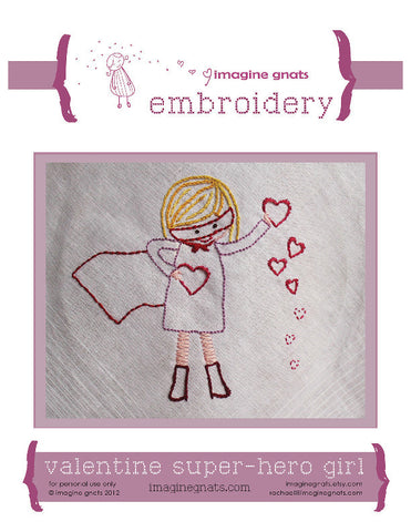 Valentine Super Hero Girl - PDF Pattern