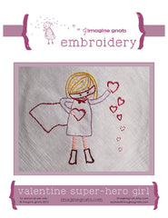 Valentine Super Hero Girl - PDF Pattern by Imagine Gnats