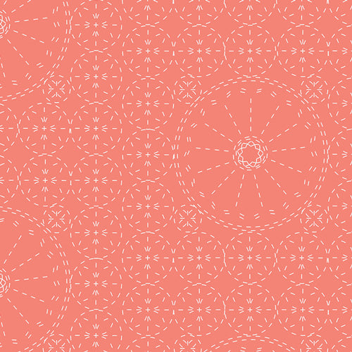 Wild Bloom Sashiko Florette in Coral