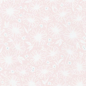WEL-19424-418 BALLERINA Daisy Made Sketchy in Ballerina by Wishwell for Robert Kaufman Fabrics at Pink Castle Fabrics