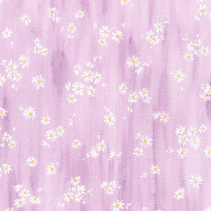 WEL-19425-21 LILAC Daisy Made Scattered in Lilac by Wishwell for Robert Kaufman Fabrics at Pink Castle Fabrics