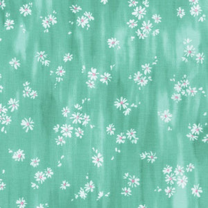 WEL-19425-32 MINT Daisy Made Scattered in Mint by Wishwell for Robert Kaufman Fabrics at Pink Castle Fabrics
