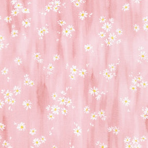 WEL-19425-97 ROSE Daisy Made Scattered in Rose by Wishwell for Robert Kaufman Fabrics at Pink Castle Fabrics