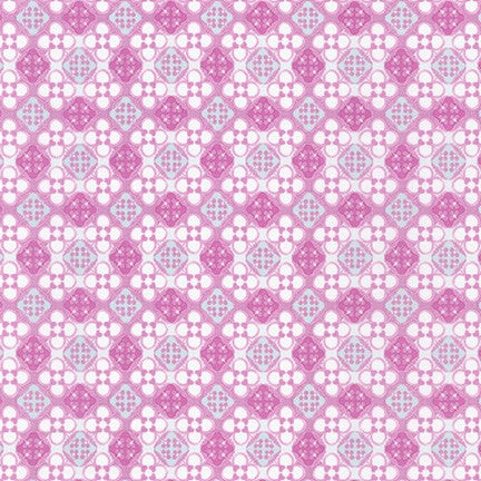 WEL-19426-119 MAUVE Daisy Made Patterned in Mauve by Wishwell for Robert Kaufman Fabrics at Pink Castle Fabrics