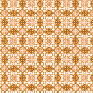 WEL-19426-165 COPPER Daisy Made Patterned in Copper by Wishwell for Robert Kaufman Fabrics at Pink Castle Fabrics
