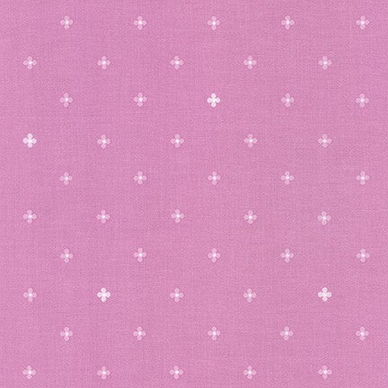 WEL-19427-119 MAUVE Daisy Made Flowers in Mauve by Wishwell for Robert Kaufman Fabrics at Pink Castle Fabrics