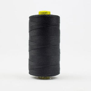 Wonderfil Spagetti 12wt Thread in Black - Spool (400m)