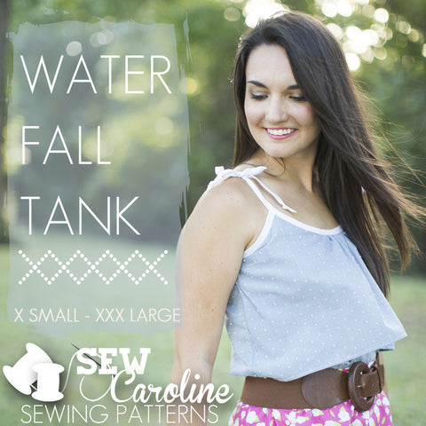 Water Fall Tank - Paper Apparel Pattern