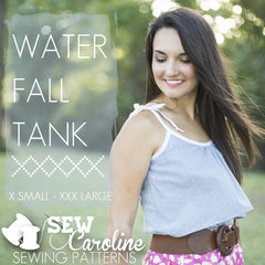 Water Fall Tank - Paper Apparel Pattern from Happy Home by Sew Caroline for Art Gallery