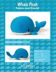 Whale Plush - PDF Accessory Pattern by DIY Fluffies
