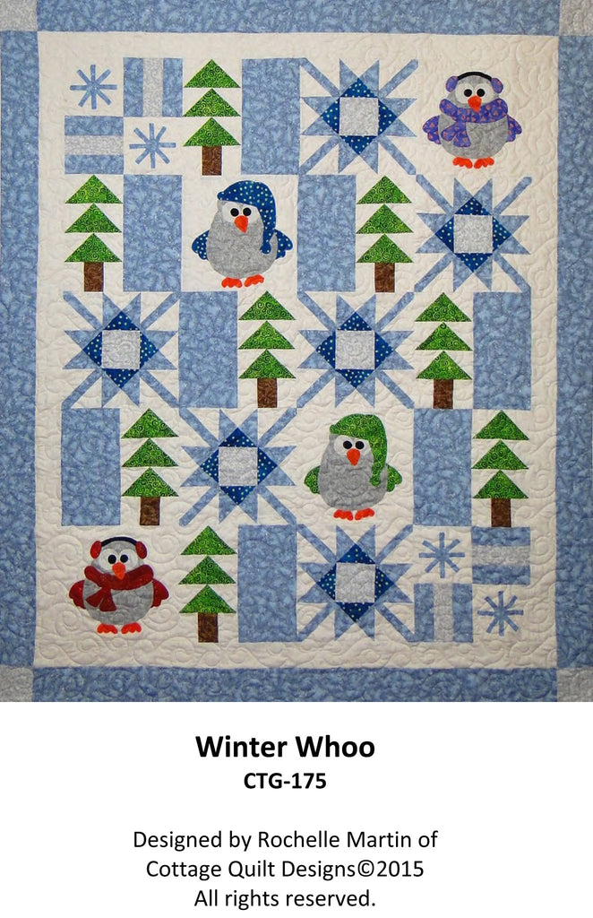 Winter Whoo - PDF Quilt Pattern by Cottage Quilt Designs | Modern ... : cottage quilt designs - Adamdwight.com