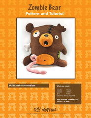 Zombie Bear - PDF Accessory Pattern by DIY Fluffies