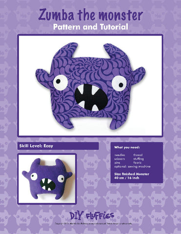 Zumba the Monster - PDF Accessory Pattern