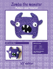 Zumba the Monster - PDF Accessory Pattern by DIY Fluffies