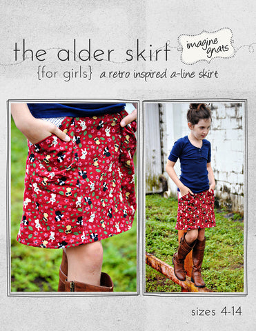 The Alder Skirt (for girls) - PDF Apparel Pattern