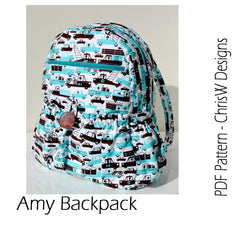 Amy Backpack - PDF Accessory Pattern from Liesl and Co by ChrisW Designs