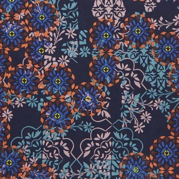 Floral Filigree Tana Lawn in B