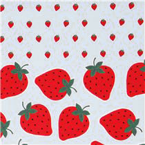Large Strawberries in White from Icing Cookie by Kokka House Designers  for Kokka