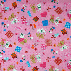 Bunnies and Dots in Pink from Tiny Story by Westex House Designers  for Westex