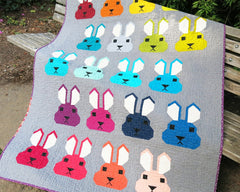 Bunny – Paper Quilt Pattern from Japanese Quilt Artist Series by Elizabeth Hartman for World Book Media