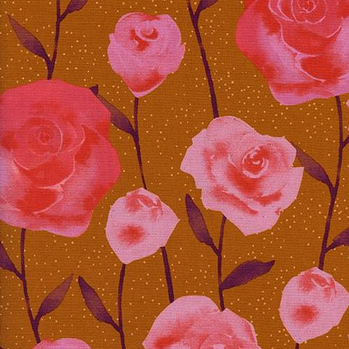 Firelight Roses in Caramel