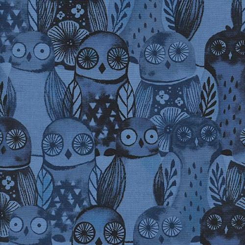 Eclipse Wise Owls in Blue