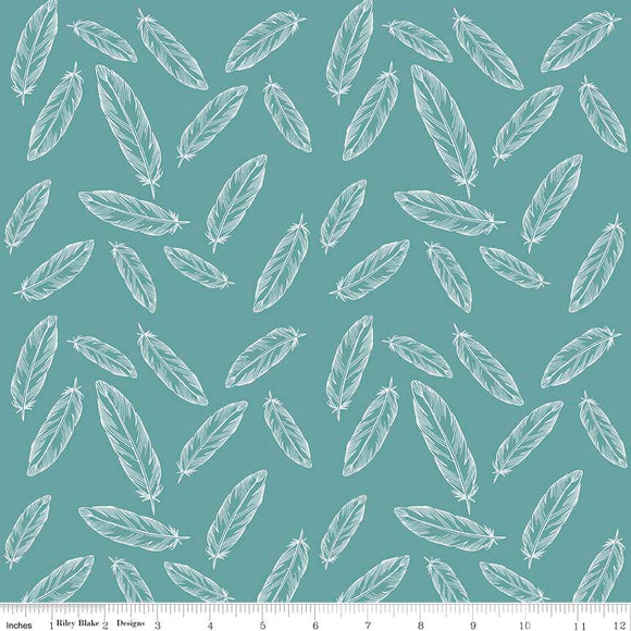 Feathers, Arrows, & Triangles Feathers in Teal