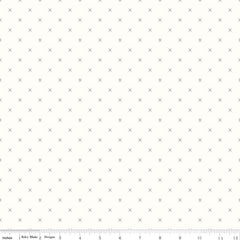 Bee Backgrounds Crossstitch in Gray from Bee Basics, Backgrounds & Backings by Lori Holt for Riley Blake