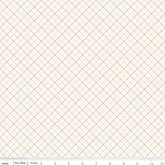 Bee Backgrounds Grid in Orange from Bee Basics, Backgrounds & Backings by Lori Holt for Riley Blake